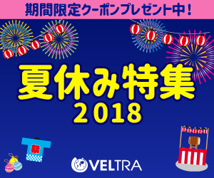 国内外の旅のパーツが14000件以上!オプショナルツアー予約サイト「VELTRA(ベルトラ)」